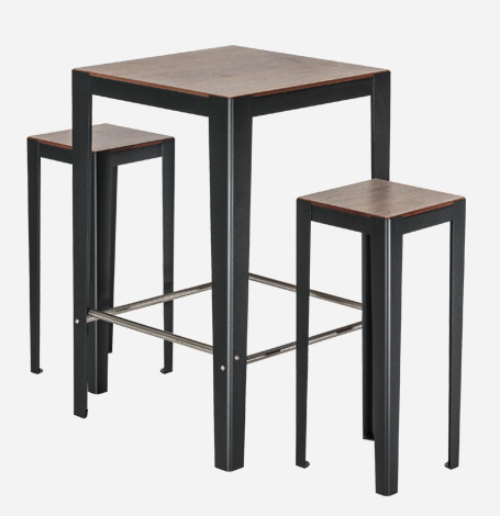 table haute 2 places solea mobilier urbain aubrilam. Black Bedroom Furniture Sets. Home Design Ideas