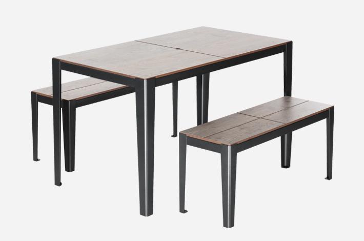 table 4 places solea mobilier urbain aubrilam. Black Bedroom Furniture Sets. Home Design Ideas
